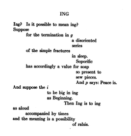 Text of poem Ing by Walter Conrad Arensberg, from The Others, An Anthology of the New Verse, 1917.