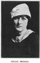 Photograph of illustrator Helen Dryden, 1914.