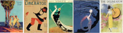 Copy of My Year in 1918 blog header with five 1918 magazine covers.