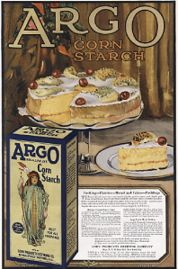 1010 Argo cornstarch ad, illustration of cake.
