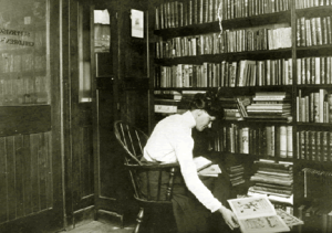 Anne Carroll Moore at New York Public Library, ca. 1906.