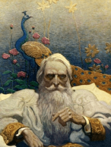 Illustration of Captain Nemo by N.C. Wyeth