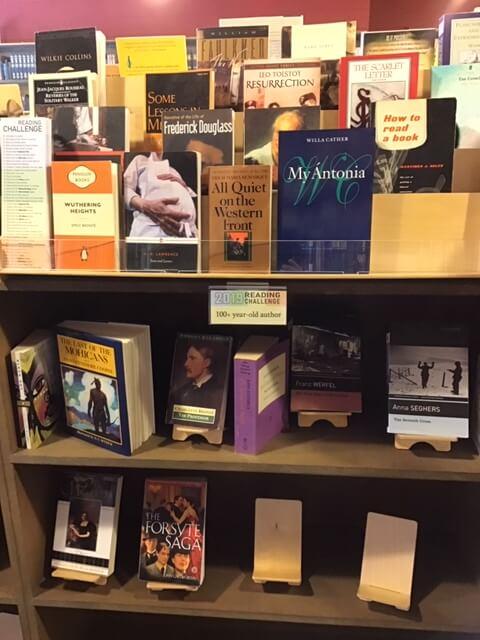 Pioneer Book display shelf