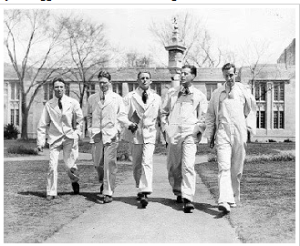 Princeton students in beer suits, ca. 1926.