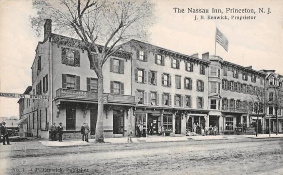 Postcard of Nassau Inn, ca. 1910.