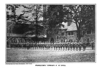 Picture of Princeton student drill squad.