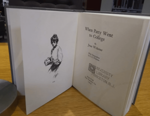 Frontispiece and title page of When Patty Went to College, by Jean Webster.