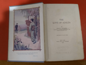Frontispiece and title page of The Love of Azalea by Onoto Watanna.