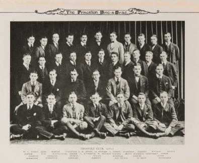 Princeton Bric-a-Brac photo wih F. Scott Fitzgerald