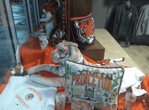 Princeton memorabilia in store window