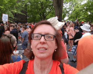 Mary Grace McGeehan at Princeton P-rade, 2019