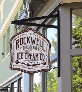 Rockwell Ice Cream sign