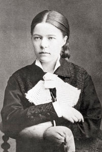 Portrait photograph of Selma Lagerlof, 1881.