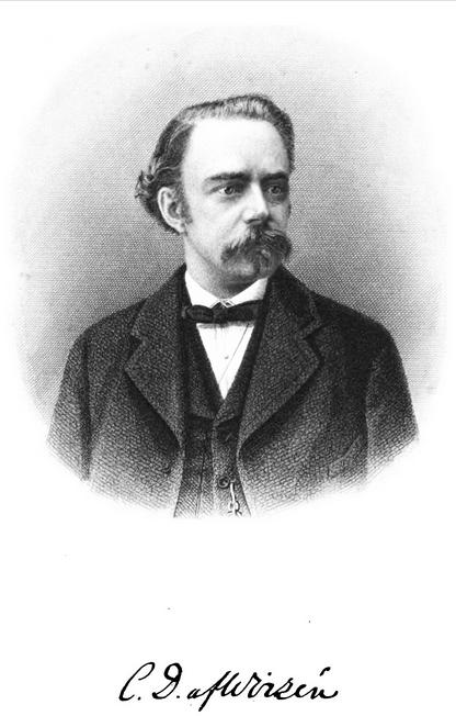 Photograph of Carl David af Wirsén with signature, 1877.