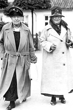 Selma Lagerlöf and Valborg Olander in the 1930s.
