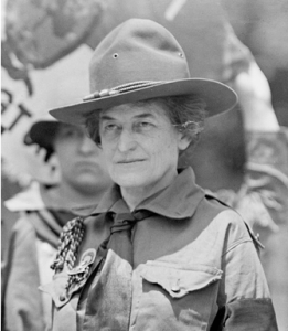 Juliette Gordon Low in Girl Scout uniform, 1917.