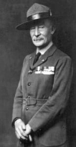 Boy Scouts founder Robert Baden-Powell in uniform, ca. 1919.