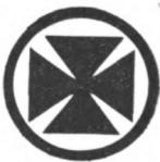 Ambulance Girl Scout badge, 1916, Maltese cross.