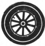 Automobiling Girl Scout badge, 1916, wheel.