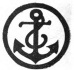 Boatswain Girl Scout badge, 1916, anchor.