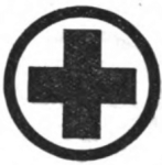 Child-Nurse Girl Scout badge, 1916, cross.