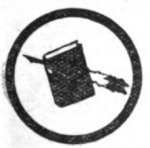 Clerk Girl Scout badge, 1916, pen and book.