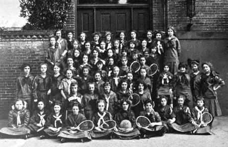 Girl Scout troop, 1916.