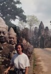 Mary Grace McGeehan at Angkor Wat, 1996.