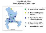 Map of Cape Town waste disposal infrastructure.