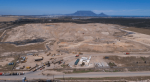 Photograph of Cape Town landfill site with Table Mountain in the background.