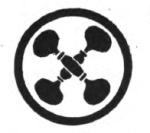 Personal Health Girl Scout badge, 1916 (crossed dumbbells).