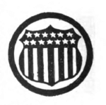 Public Health Girl Scout badge, 1916 (seal with stars and stripes from U.S. flag).