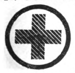 Home Nursing Girl Scout badge, 1916 (cross).