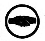 Interpreter Girl Scout badge, 1916 (shaking hands).