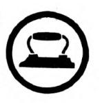 Laundress Girl Scout badge, 1916 (iron).