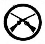 Marksmanship Girl Scout badge, 1916 (crossed rifles).