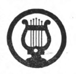Musician Girl Scout badge, 1916 (lyre).