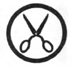 Needlewoman Girl Scout badge, 1916 (scissors).