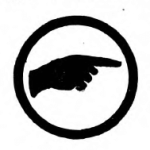 Pathfinder Girl Scout badge, 1916 (pointing finger).