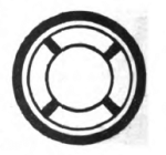 Swimmer Girl Scout badge, 1916 (life buoy).