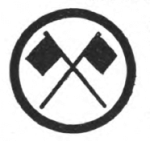 Signaling Girl Scout badge, 1916 (crossed flags).