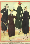 Women in matching coats and skirts, Simpson's Catalogue, 1918.