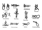 Illustrations of knots from 1916 Girl Scout handbook.