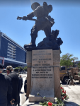 Cape Town Cenotaph with wreaths, November 11, 2018.