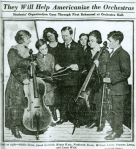 Children with string instruments, 1920.