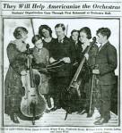 Children with string instruments, 1920.