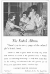 1919 Kodak ad, girls looking at photo album.