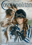 Cosmopolitan cover, April 1919, young woman with horse.