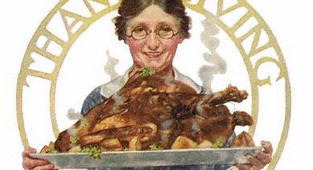 Norman Rockwell Literary Digest Thanksgiving cover, 1919