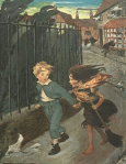 Illustration by Jessie Willcox Smith from At the Back of the North Wind.